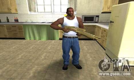 Zloty Tajfun Combat Shotgun for GTA San Andreas third screenshot