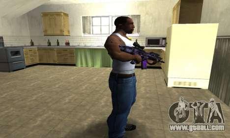 Blue Scan M4 for GTA San Andreas third screenshot