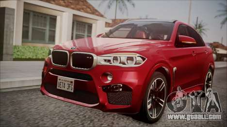BMW X6M 2015 for GTA San Andreas back view