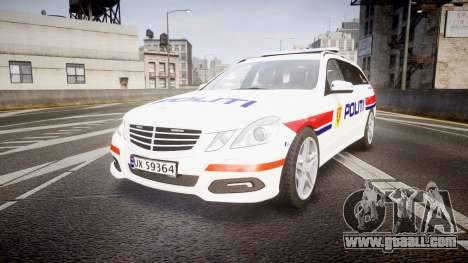 Mercedes-Benz E63 AMG Estate 2012 Police [ELS] for GTA 4