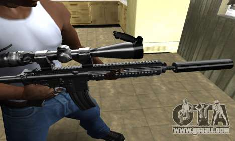 M4 with Optical Scope for GTA San Andreas second screenshot