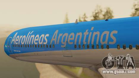 Boening 737 Argentina Airlines for GTA San Andreas back view