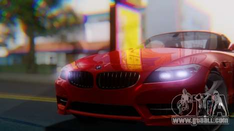 BMW Z4 sDrive35is 2011 2 Extras for GTA San Andreas right view