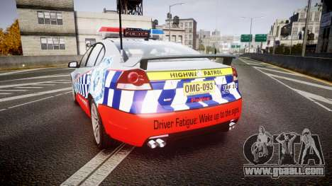 Holden Commodore SS Highway Patrol [ELS] for GTA 4 back left view