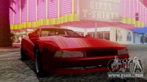 Cheetah New Edition for GTA San Andreas back left view