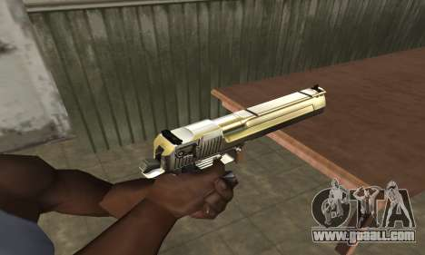Full of Gold Deagle for GTA San Andreas
