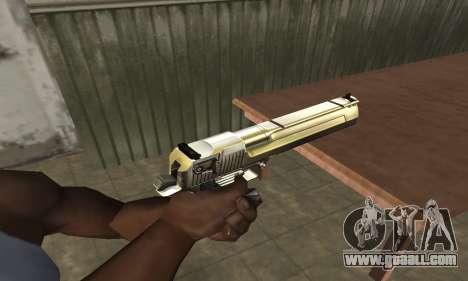 Full of Gold Deagle for GTA San Andreas