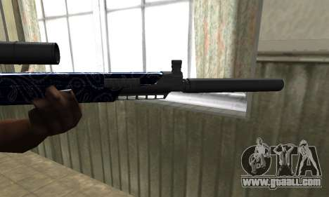 Blue Oval Sniper Rifle for GTA San Andreas second screenshot