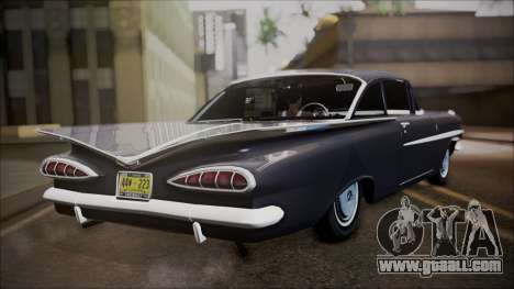 Chevrolet Impala 1959 for GTA San Andreas back left view