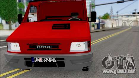 Zastava Daily Towtruck for GTA San Andreas inner view