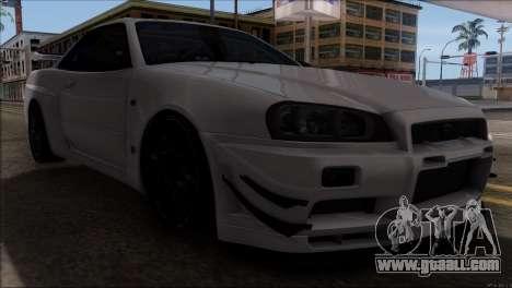 Nissan Skyline GT-R34 for GTA San Andreas inner view