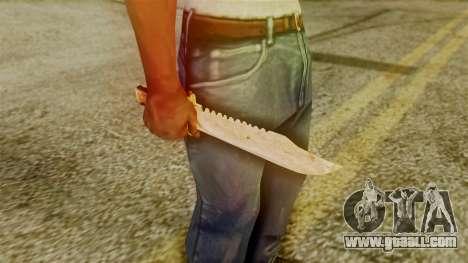Red Dead Redemption Knife Legendary Assasin for GTA San Andreas third screenshot
