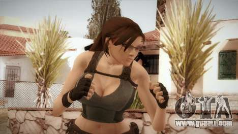 Well Armed Lara Croft for GTA San Andreas third screenshot