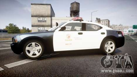 Dodge Charger 2010 LAPD [ELS] for GTA 4 left view