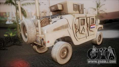 HMMWV Croatian Army ISAF Contigent for GTA San Andreas left view