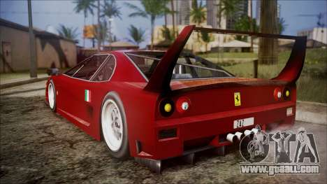 Turismo F40 for GTA San Andreas left view