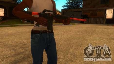 M4A1 Nitro for GTA San Andreas second screenshot