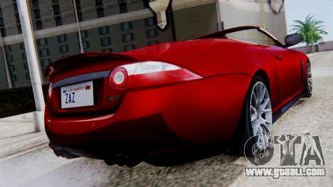 Jaguar XKR-S 2011 Cabrio for GTA San Andreas left view