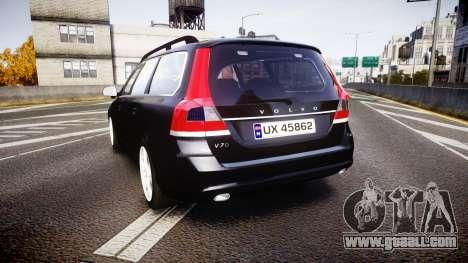 Volvo V70 2014 Unmarked Police [ELS] for GTA 4 back left view