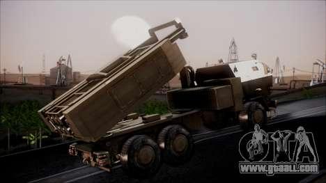 M142 HIMARS Desert Camo for GTA San Andreas back left view