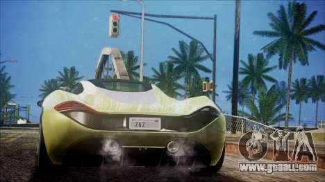 GTA 5 Progen T20 for GTA San Andreas left view