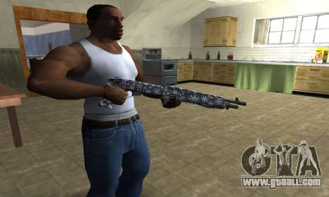 Snowflake Combat Shotgun for GTA San Andreas second screenshot
