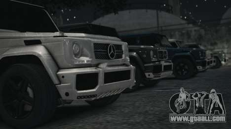 Mercedes-Benz G65 W463 for GTA 4 back left view