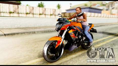 Kawasaki Z250SL Orange for GTA San Andreas