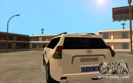 Toyota Land Cruiser OSCE (ОБСЕ) for GTA San Andreas back left view