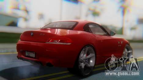 BMW Z4 sDrive35is 2011 2 Extras for GTA San Andreas left view