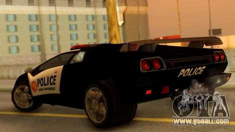 Lamborghini Diablo Police SA Style for GTA San Andreas left view