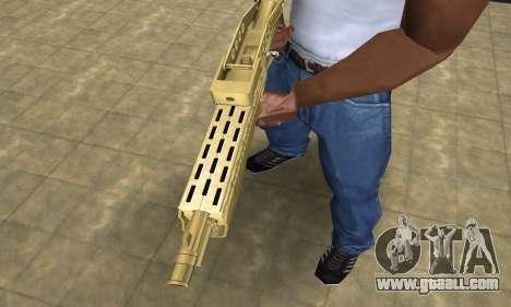 Zloty Tajfun Combat Shotgun for GTA San Andreas second screenshot