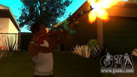 AK-47 Fire Serpent for GTA San Andreas third screenshot