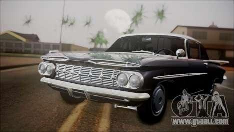 Chevrolet Impala 1959 for GTA San Andreas left view