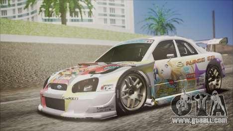 Subaru Impreza 2003 Love Live Muse Team Itasha for GTA San Andreas left view