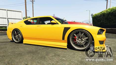 GTA 5 Bravado Buffalo Dodge Charger right side view