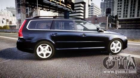 Volvo V70 2014 Unmarked Police [ELS] for GTA 4 left view