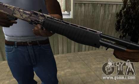 Brown Combat Shotgun for GTA San Andreas