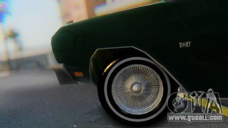 Dodge Dart Coupe for GTA San Andreas back view
