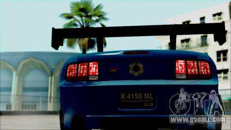 Ford Mustang GT Modification for GTA San Andreas back view