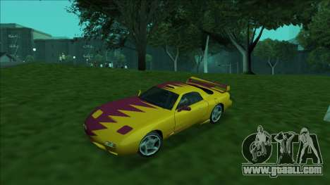 ZR-350 Double Lightning for GTA San Andreas wheels