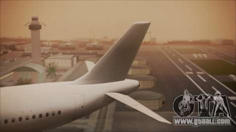 Airbus A320-200 for GTA San Andreas back left view