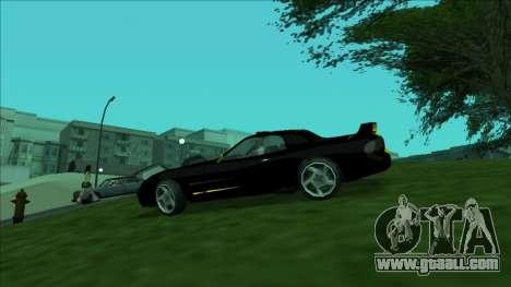 ZR-350 Double Lightning for GTA San Andreas inner view