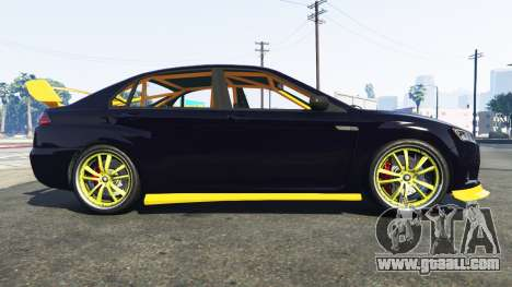 GTA 5 Karin Kuruma Mitsubishi Lancer Evolution X left side view