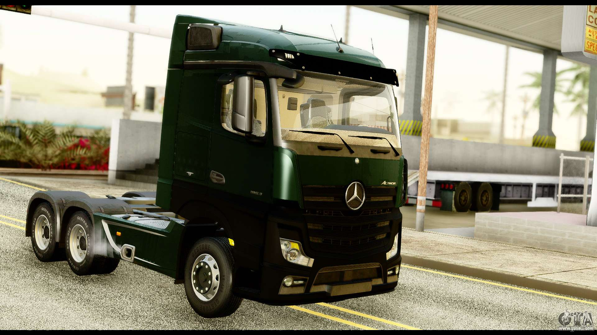 mercedes benz actros mp4 6x4 standart interior for gta san. Black Bedroom Furniture Sets. Home Design Ideas