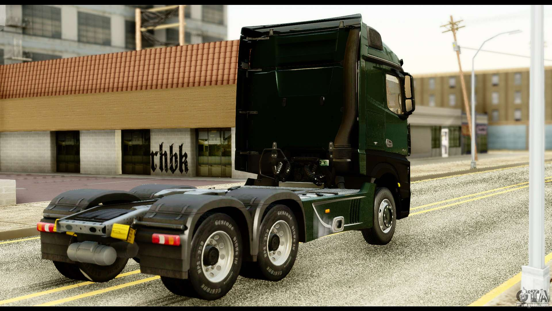 mercedes benz actros mp4 6x4 standart interior for gta san andreas. Black Bedroom Furniture Sets. Home Design Ideas