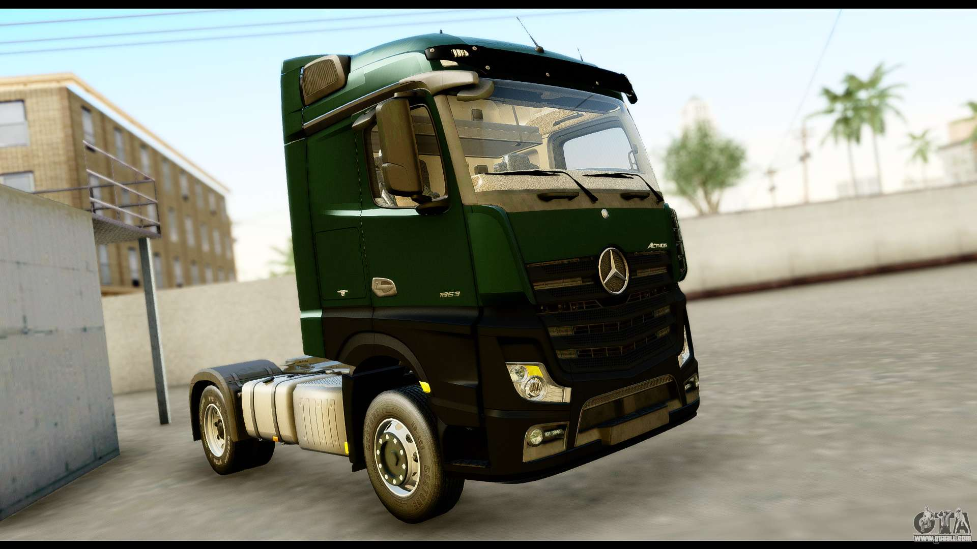mercedes benz actros mp4 4x2 exclusive interior for gta. Black Bedroom Furniture Sets. Home Design Ideas