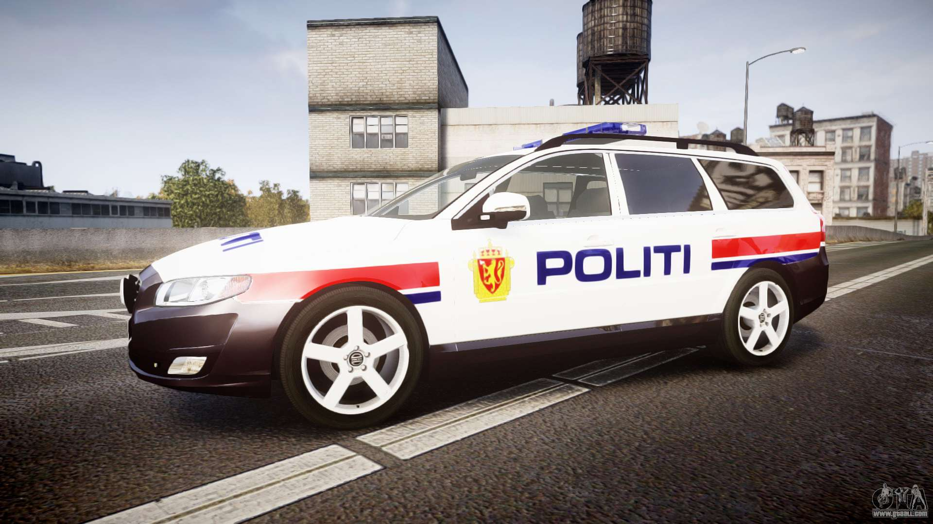 Volvo V70 2014 Norwegian Police Els For Gta 4