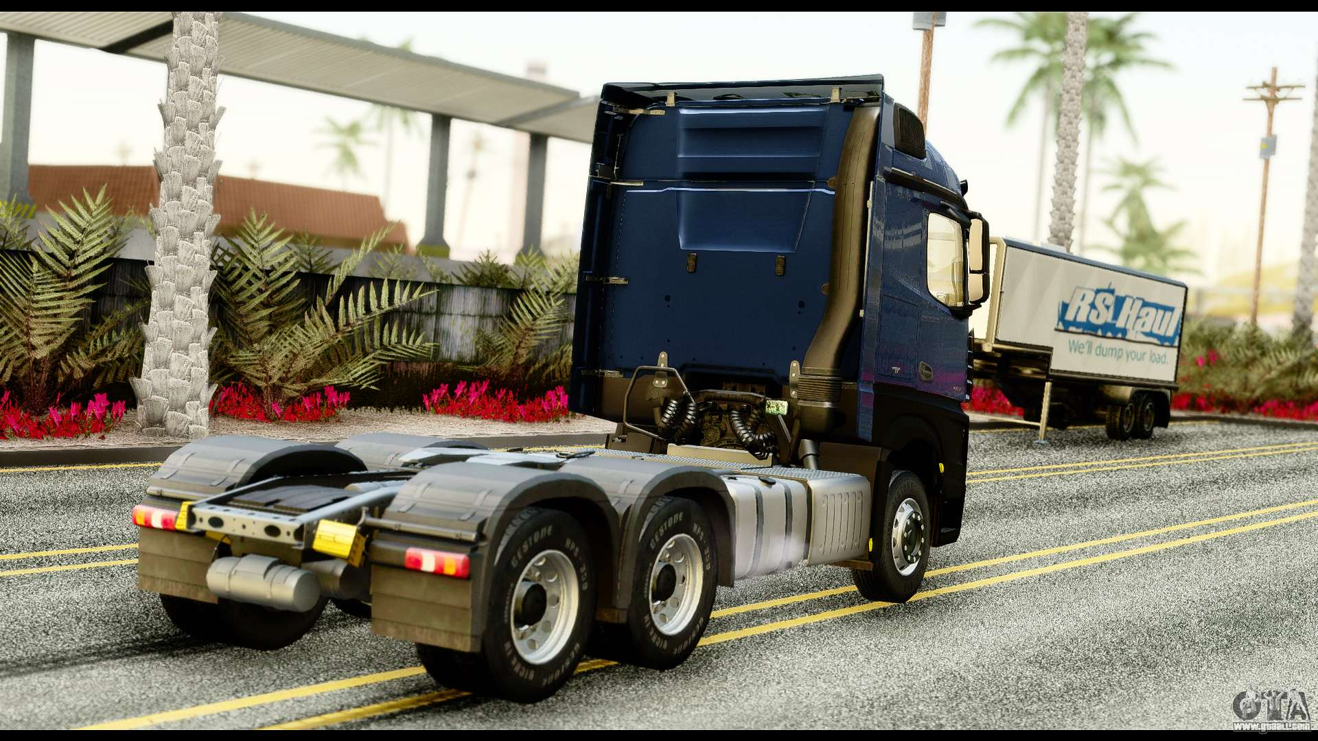 mercedes benz actros mp4 6x4 exclucive interior for gta san andreas. Black Bedroom Furniture Sets. Home Design Ideas