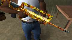 Golden AUG A3 for GTA San Andreas